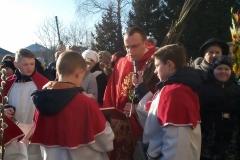ks.Mikołaj Kizłyk-wikariusz.Poświęcenie Palm - Pnikut
