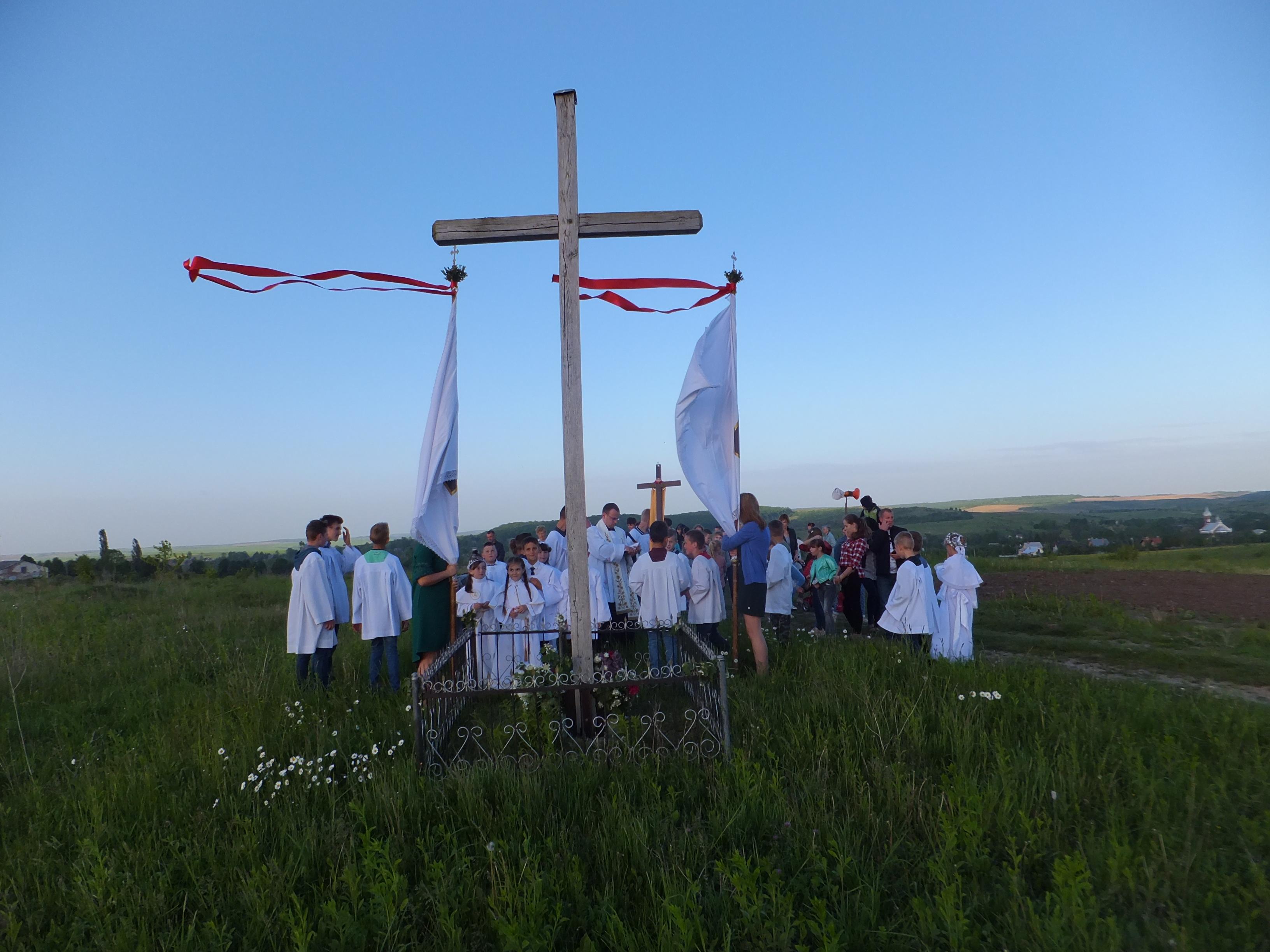 Przy Krzyżu  nad jeziorem