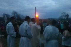 Liturgia Wielkiej Soboty - Poświęcenie ognia Pnikut 2018